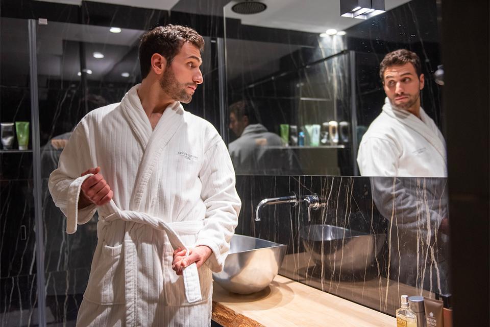 Basque Luxury Collection Bath Robe Basque Luxury